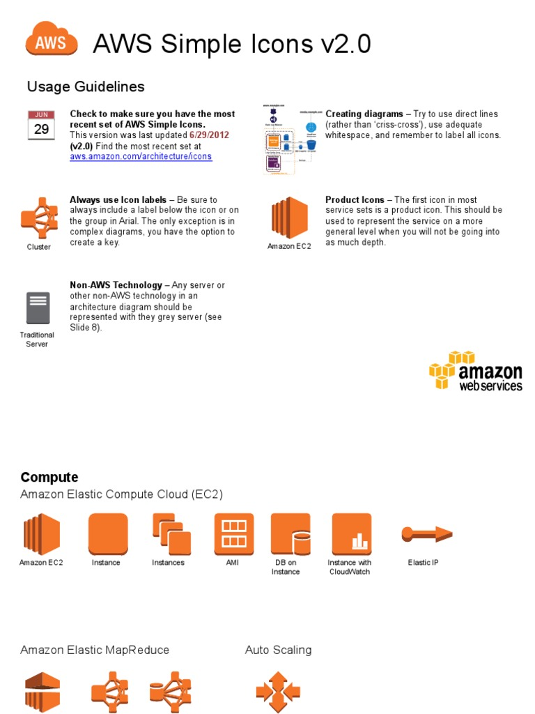 AWS Simple-Icons v2 0 | Amazon Web Services | Cloud Computing