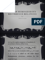 Linear Recurrence Relations