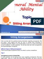 General Mental Ability Sitting Arrangements