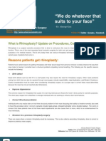 What is Rhinoplasty- Update on Procedures- Cost and Risks