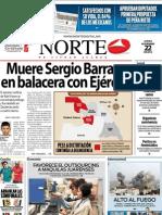 Periodico Norte de Ciudad Juárez 22 de Noviembre de 2012