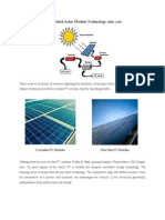Get to Know Which Solar Module Technology Suits You.[1]