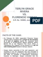 Terlyn Grace Rivera vs. Florencio Vargas