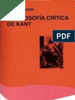 Deleuze - Filosofía crítica de Kant - 1997