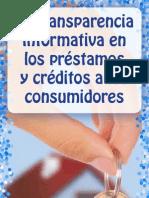 La transparencia informativa en los préstamos y créditos a los cosumidores
