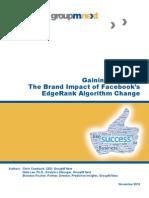 GroupM Next-M80-White Paper-Gaining an Edge-Brand Impact of Facebook Algorithm Change-FINAL-Nov-2012