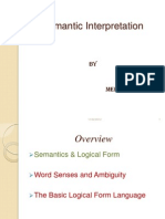 Semantic Interpretation by Shayeez Ahamed
