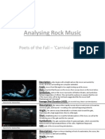 Analysing Rock Music - Carnival of Rust