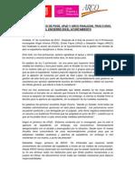 Los portavoces de PSOE, UPyD y ARCO finalizan, tras 9 días, el encierro en el Ayuntamiento de Coslada