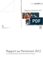 Le Rapport 2012 sur les exportations d'armement au Parlement