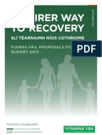 A Fairer Way to Recovery - Fianna Fáil Proposals for Budget 2013