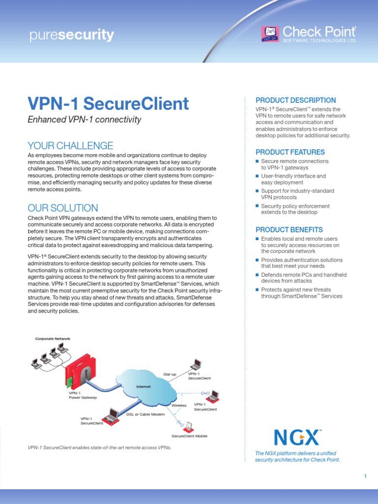 VPN-1 Clients Datasheet   Virtual Private Network   Online