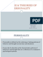 Nature & Theories of Personality