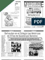 Versión impresa del periódico El mexiquense 22 de noviembre 2012