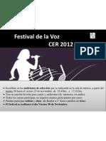 Afiche Festival de La Voz 2012