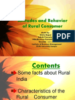 Attitudes and Behavior of Rural Consumer