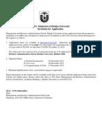 MBA2012-13 ( Khulna University )