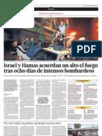 Israel y Hamas Acuerdan Alto Al Fuego Tras Ocho Dias de Intensos Bombardeos