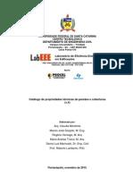 Catalogo de Propriedades Termicas de Paredes e Coberturas