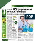 Solo 11 Por Ciento de Peruanos Recicla La Basura