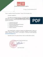 Asamblea Extraordinaria PSOE Loja 30 Noviembre 2012