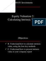BM410-16 Equity Valuation 2 - Intrinsic Value 19Oct05