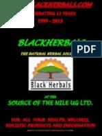 Blackherbals' Product Catalogue