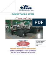 SUMMER TRAINING REPORT AT Elin Electronics Ltd. Gzb.