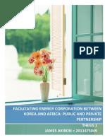 Facilitating Energy Corporation Between Korea and Africa _james Akibon