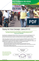 Effectiveness Review: Raising Poor and Marginalised Women's Voices, Liberia