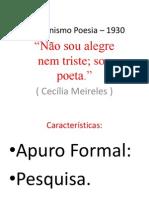 Modernismo Poesia – 1930