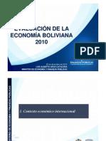 Evaluacion de La Economia en Bolivia - 2010 Por El Ministerio Del Area