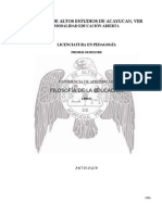 Antologia de Filosofía de la Educación I