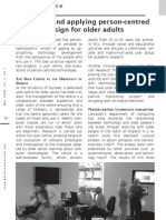 Enabling and applying person-centred design for older adults