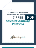 7 Free Sweater Patterns