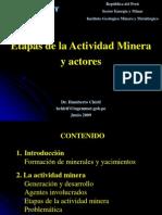 ETAPAS DE LA MINERÍA Y ACTORES