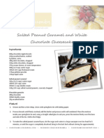 Salted Peanut Caramel and White Chocolate Cheesecake