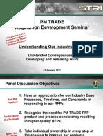 Industry Panel - Jan 2011 Ref