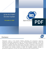 Opto Circuits Investor presentation 2012