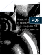 Santiago Redondo Illescas. Manual para tratamiento psicológico de los delincuentes, 2008