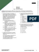 Released AP Biology 2008 Exam