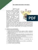 REFLEXIONES DE EDUCACIÓN A DISTANCIA