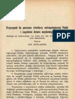 Mydlarski, Jan, ''Przyczynek Do Poznania Struktury Antropologicznej Polski i Zagadnien Doboru Wojskowego'', 1928.