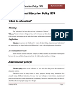 Education Policy 1979 by Saleem