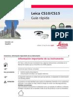 Leica CS10 CS15 QuickGuide Es