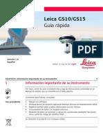 Leica GS10 GS15 QuickGuide Es