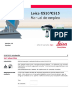 Leica GS10 GS15 UserManual Es