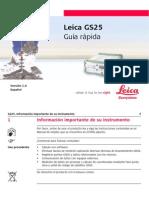 Leica GS25 QuickGuide Es