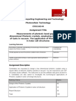 Photovoltaics Assignment Jan 2012