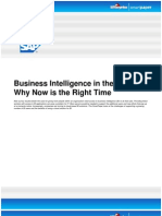SAP - Business Intelligence in the Cloud Why Now is the Right Time